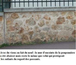 Ancien mur d'enceinte de la pouponnière d'Antony